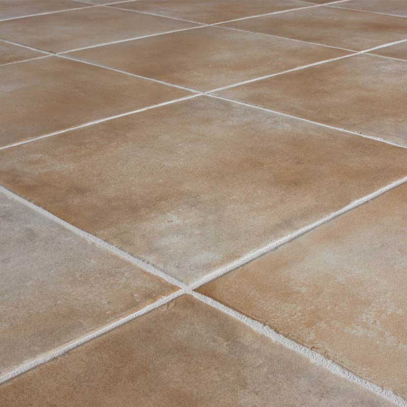Tile and grout flooring