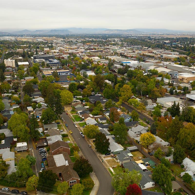 Aerial view of Medford, Oregon