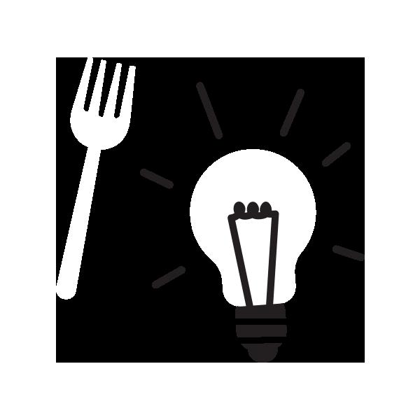 A fork and a lightbulb