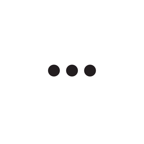 A speech bubble with three dots in it