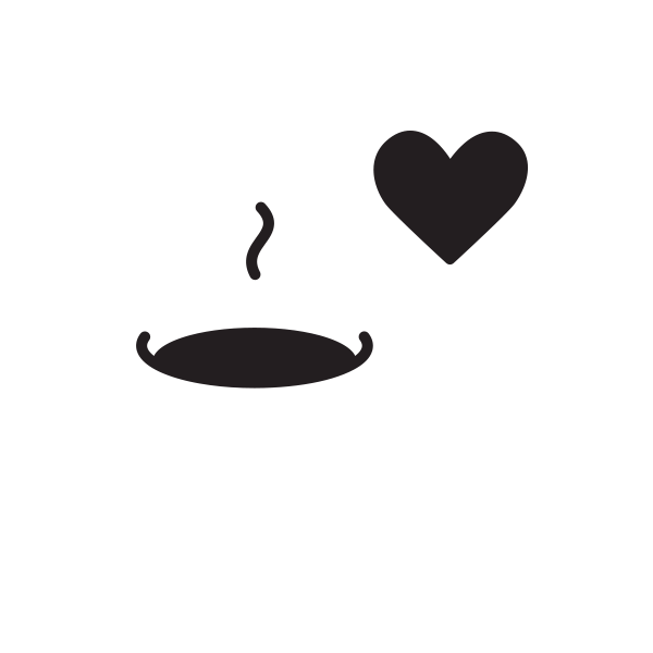 A cup of coffee and a heart