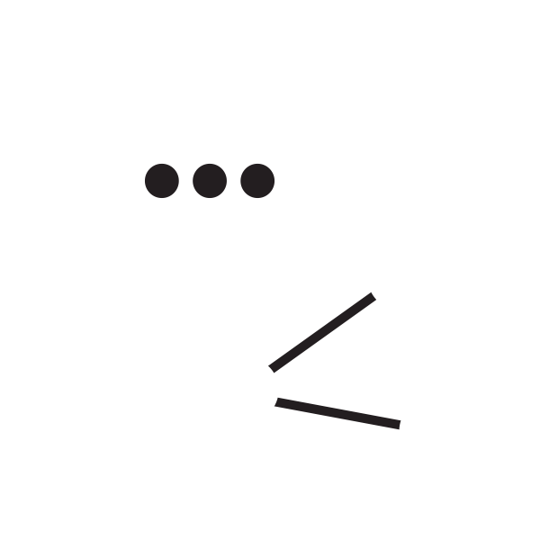 a speech bubble and three connected dots