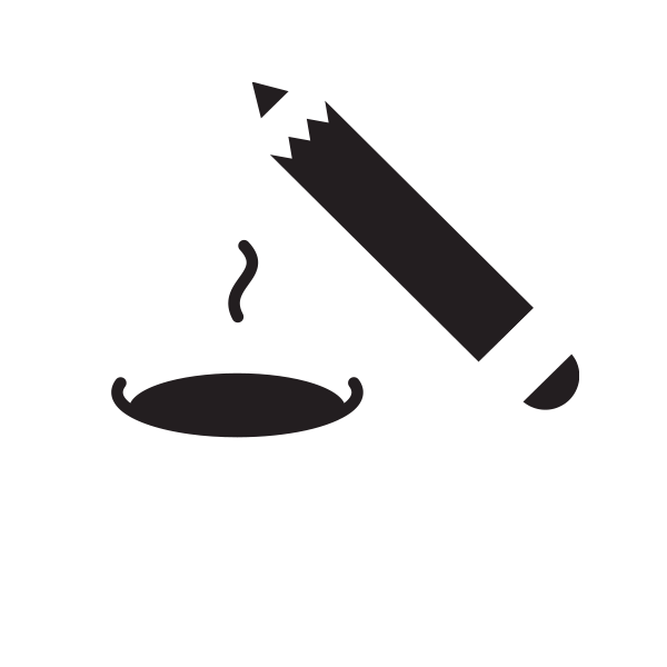 A cup of coffee and a pencil
