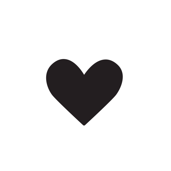 A heart surrounded by sparkles