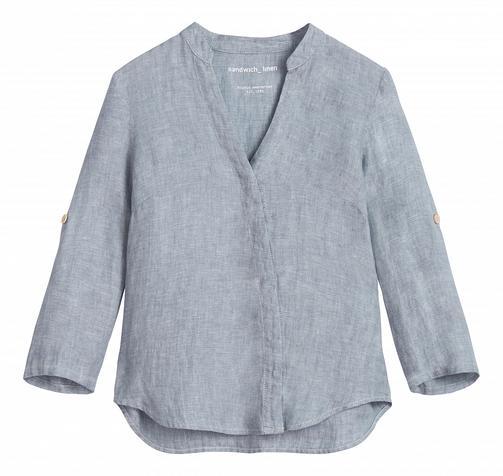 V-neck Linen blouse