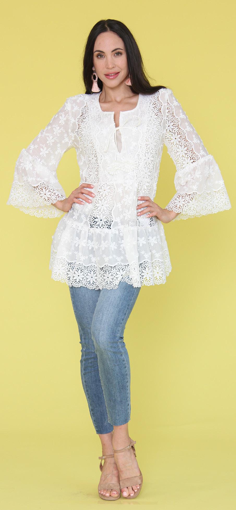 Woven Dress White