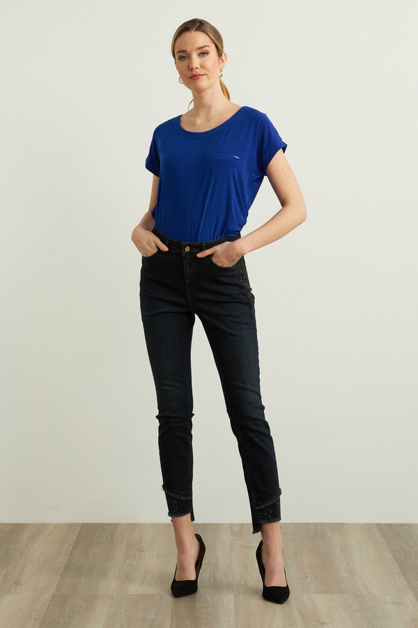 Jeans with side and hem sparkle detail