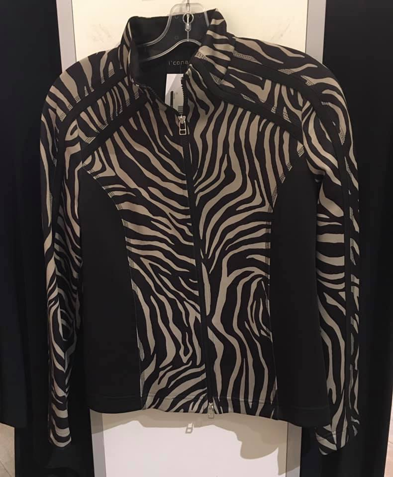 Black and taupe zebra jacket