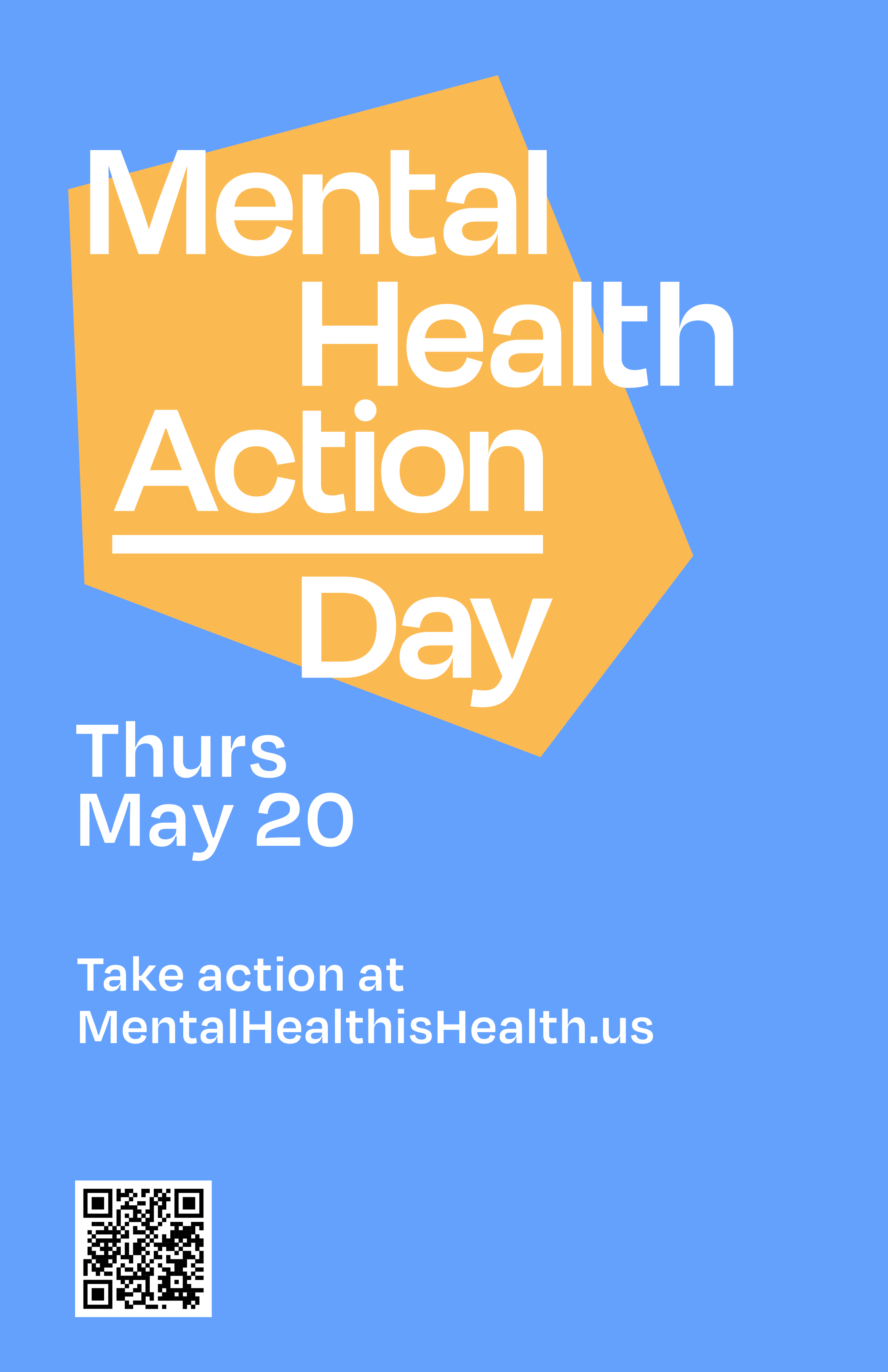 Mental Health Action Day poster