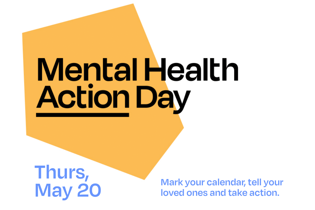 Mental Health Action Day postcard -front