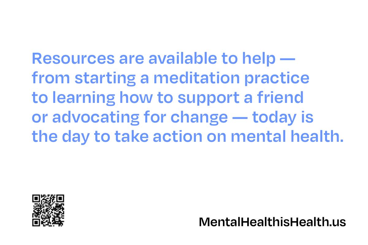 Mental Health Action Day postcard- back
