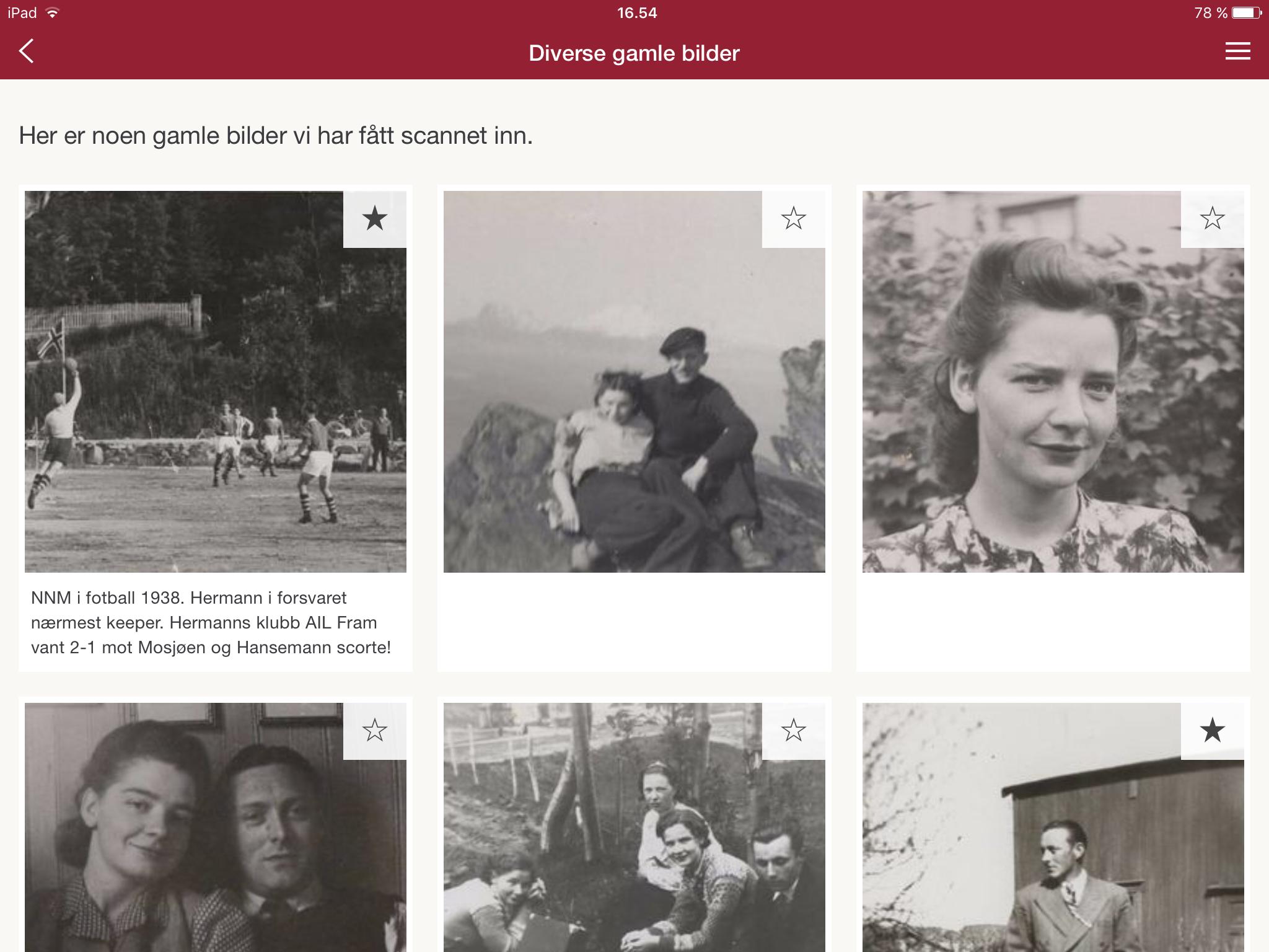 Skjermbilde av Memoria app