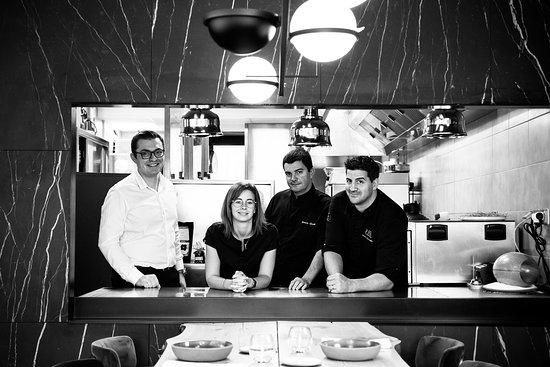 Equipe du restaurant Vincent Favre Félix Annecy
