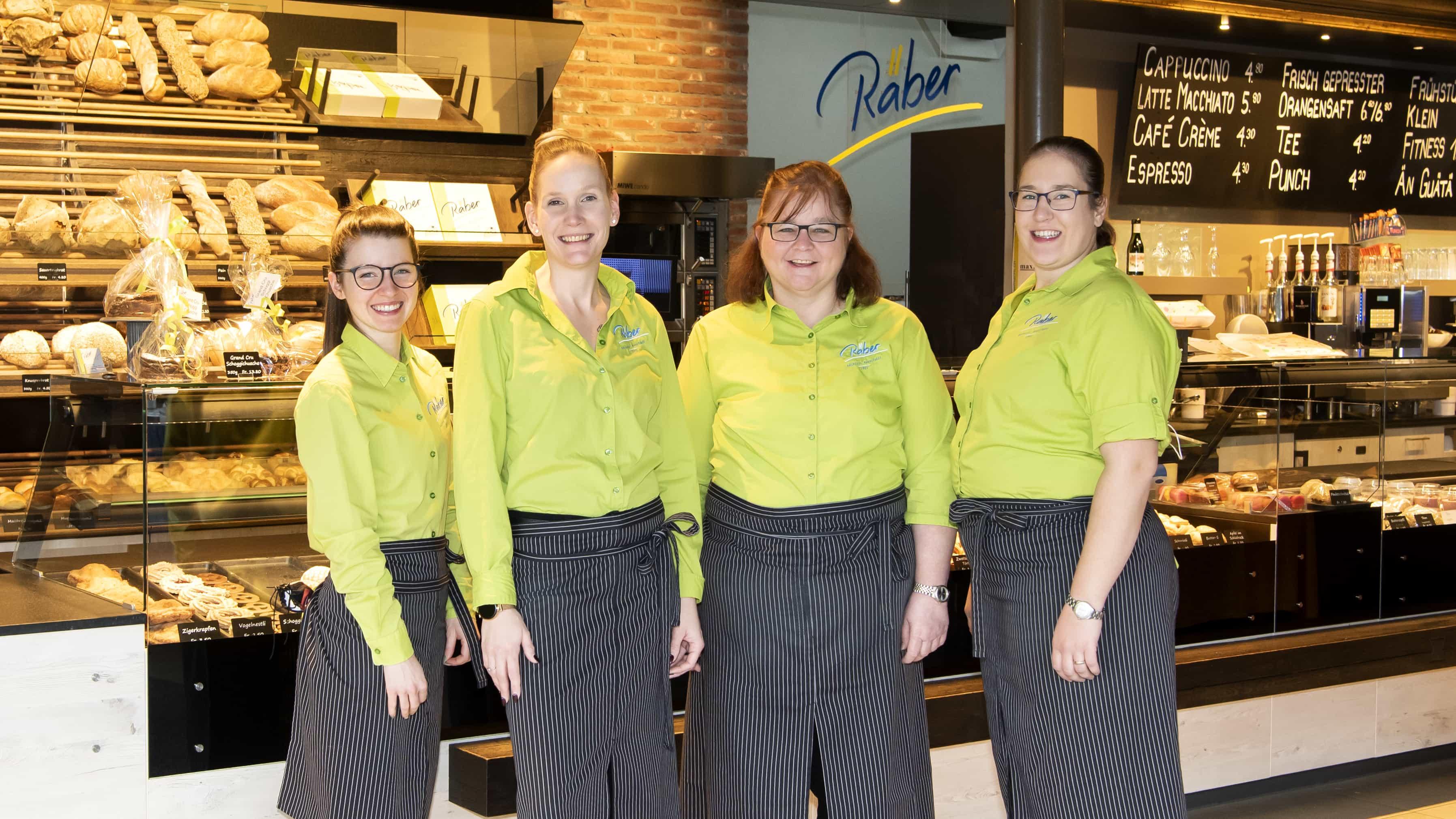 Teamfoto der Bedienungen