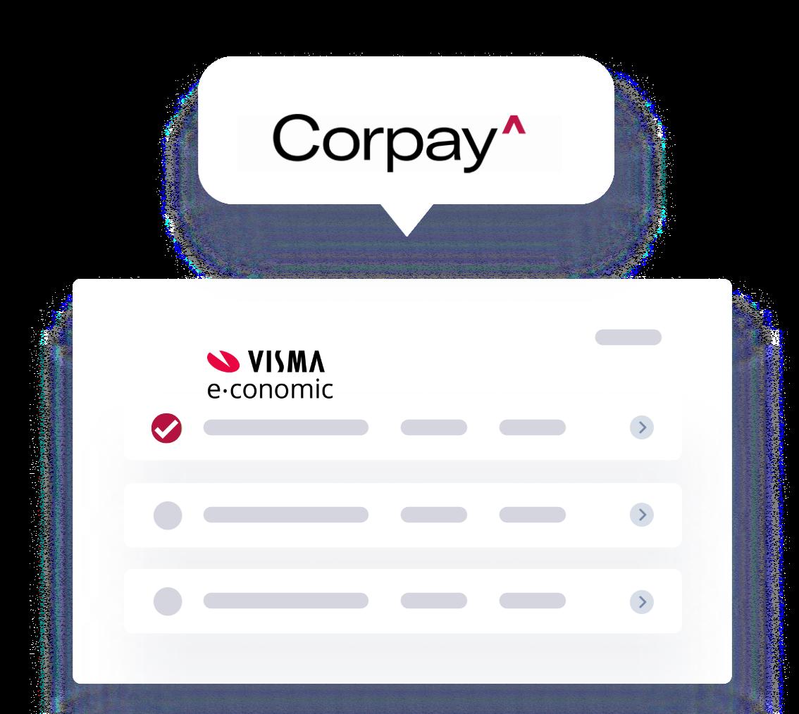 Corpay One in e-conomic