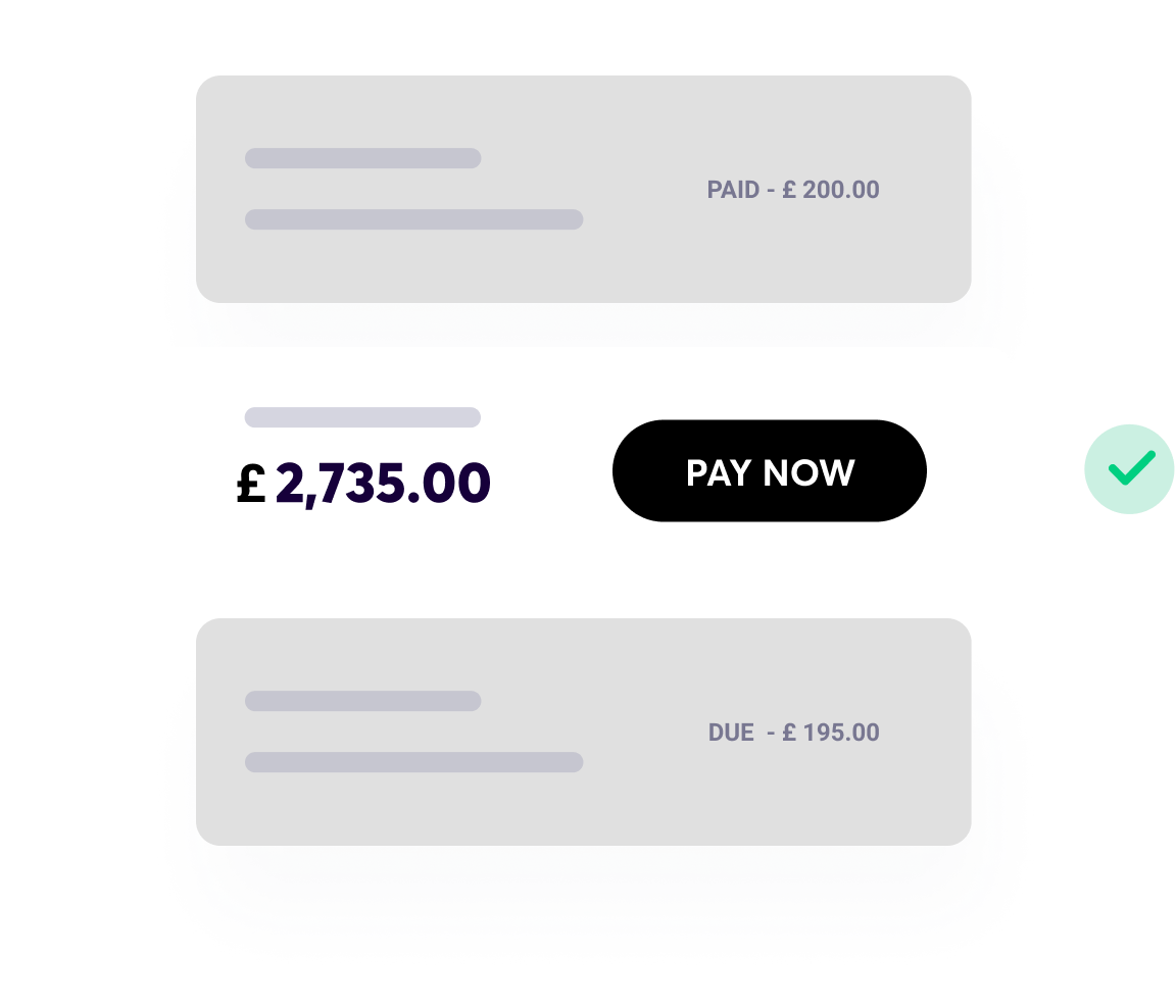 Your payment needs covered, Pay now image