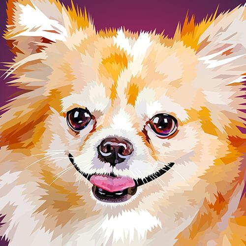 Digitale tekening van een chihuahua