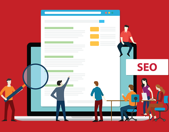 seo and search engine results illustration