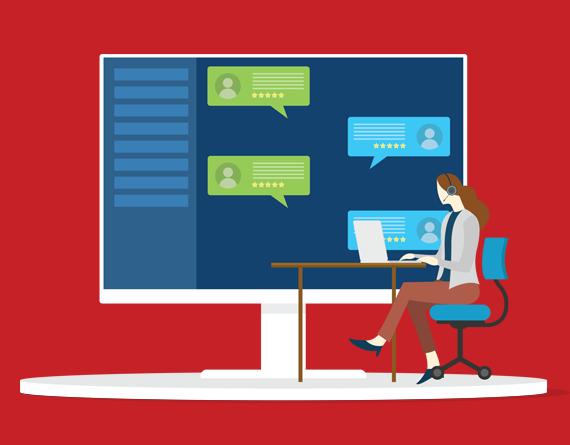Chat conversation illustration