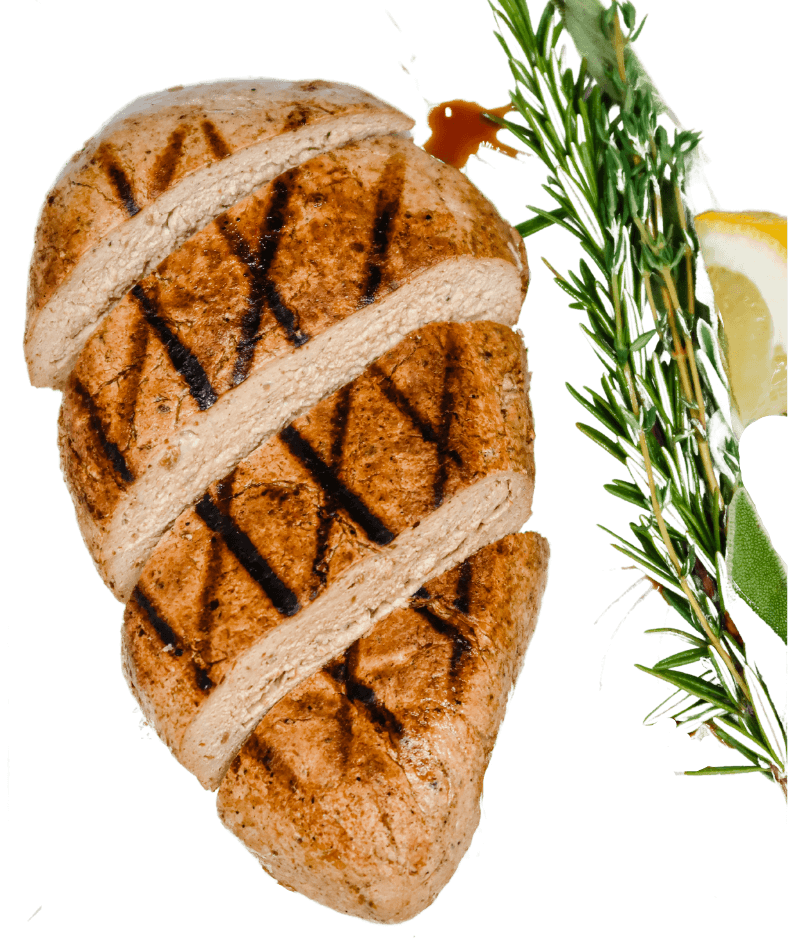 A large chicken cutlet, made entirely from Rhiza.