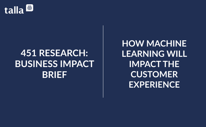 How Machine Learning Will Impact The Customer Experience