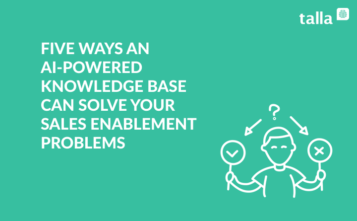 Five Ways An A.I Powered Knowledge Base Can Solve Your Sales Enablement Problems
