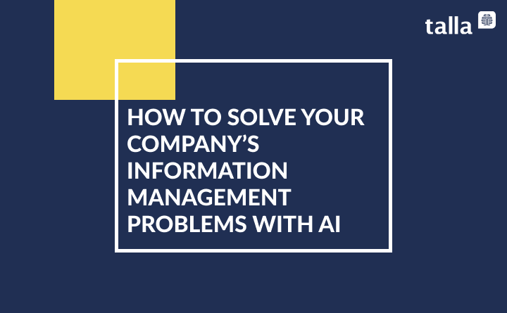 Solving Your Company's Information Sharing Crisis with AI