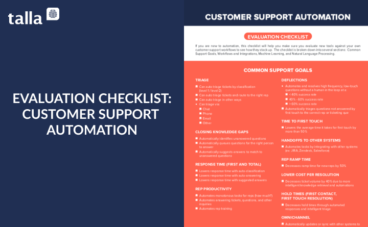 Customer Support Automation Evaluation Checklist