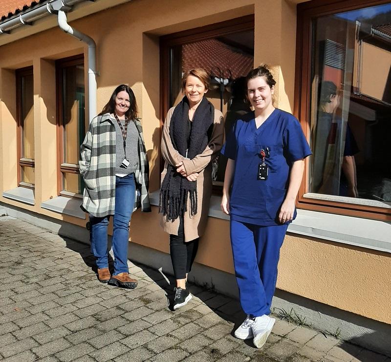Superbrukerne Nina Grannes, Marianne Gjesdal, og Anette Stangeland fra Ålgård bo- og aktivitetssenter – bofelleskap i Gjesdal.
