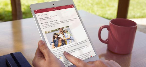 Memoria gjør elevens interesser og opplevelser lett tilgjengelig for familie støttepersoner. Illustrasjonsfoto- MinMemoria AS