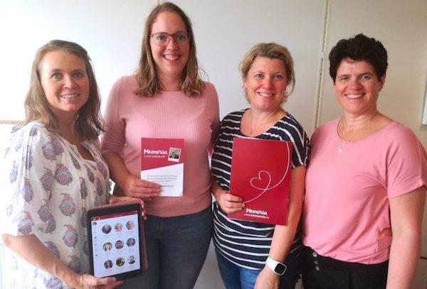 Fire av ergoterapeutene i barne- og familieenheten. Fra venstre: Kjersti Hustoft, Ingunn Dalhaug, Tone Solbakk og Kristin Schjenken Navjord. Foto: Privat