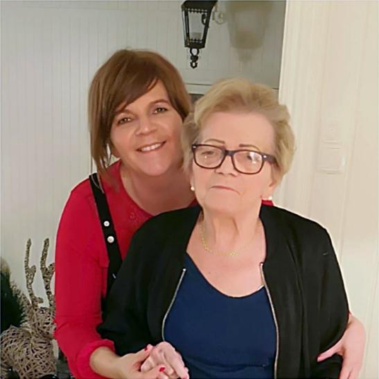 Karin og hennes mor.