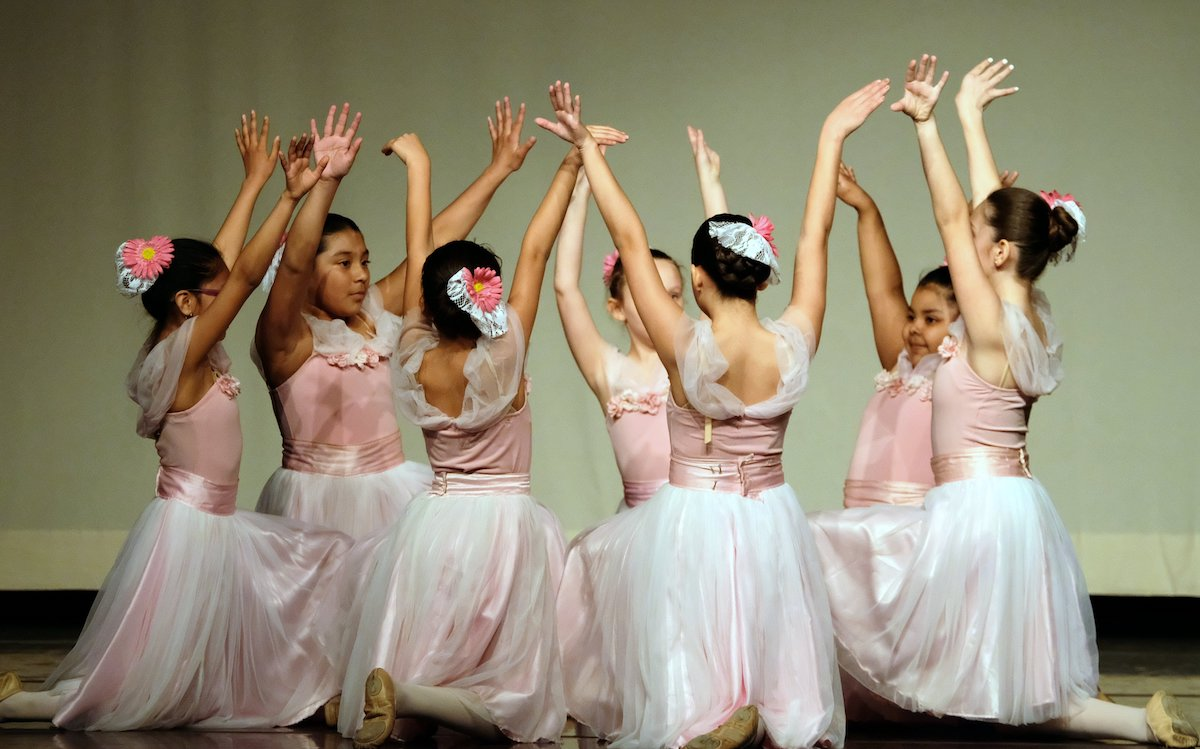 Young dancers performing