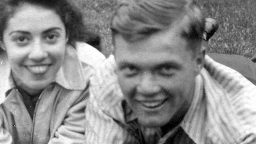 Annie Castor and John Glenn, 1938. They met in a playpen as toddlers; more than ninety years later, as husband and wife, they were still together. (John Glenn Archives, The Ohio State University)