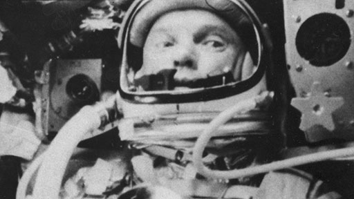 Glenn in orbit. Ninety-five minutes into his flight, a warning light went on at Mercury Control. If the signal was right, Glenn's heat shield was loose; he would almost certainly burn up on re-entering the atmosphere. (NASA)