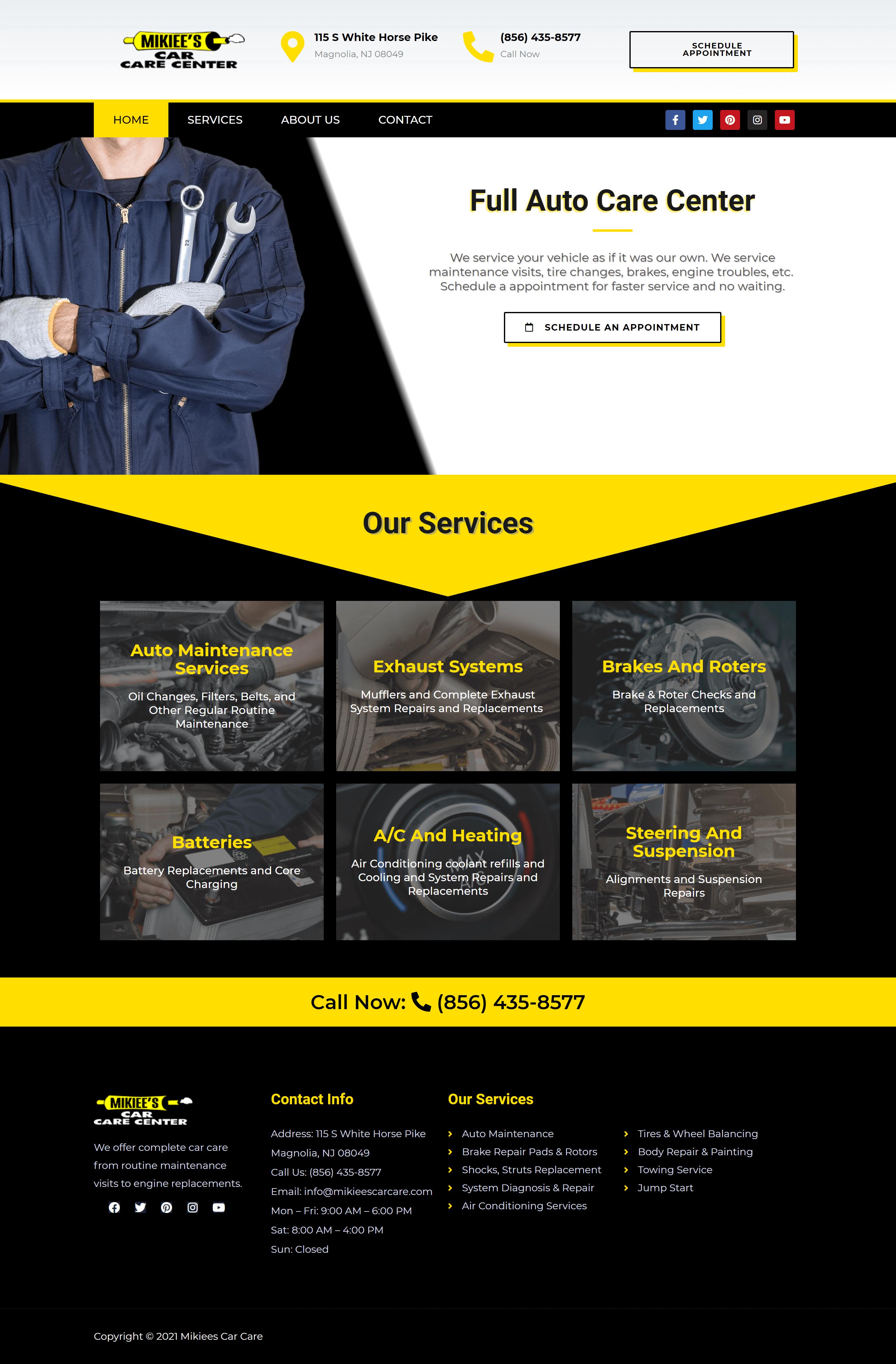 Mikiees Car Care Website Design