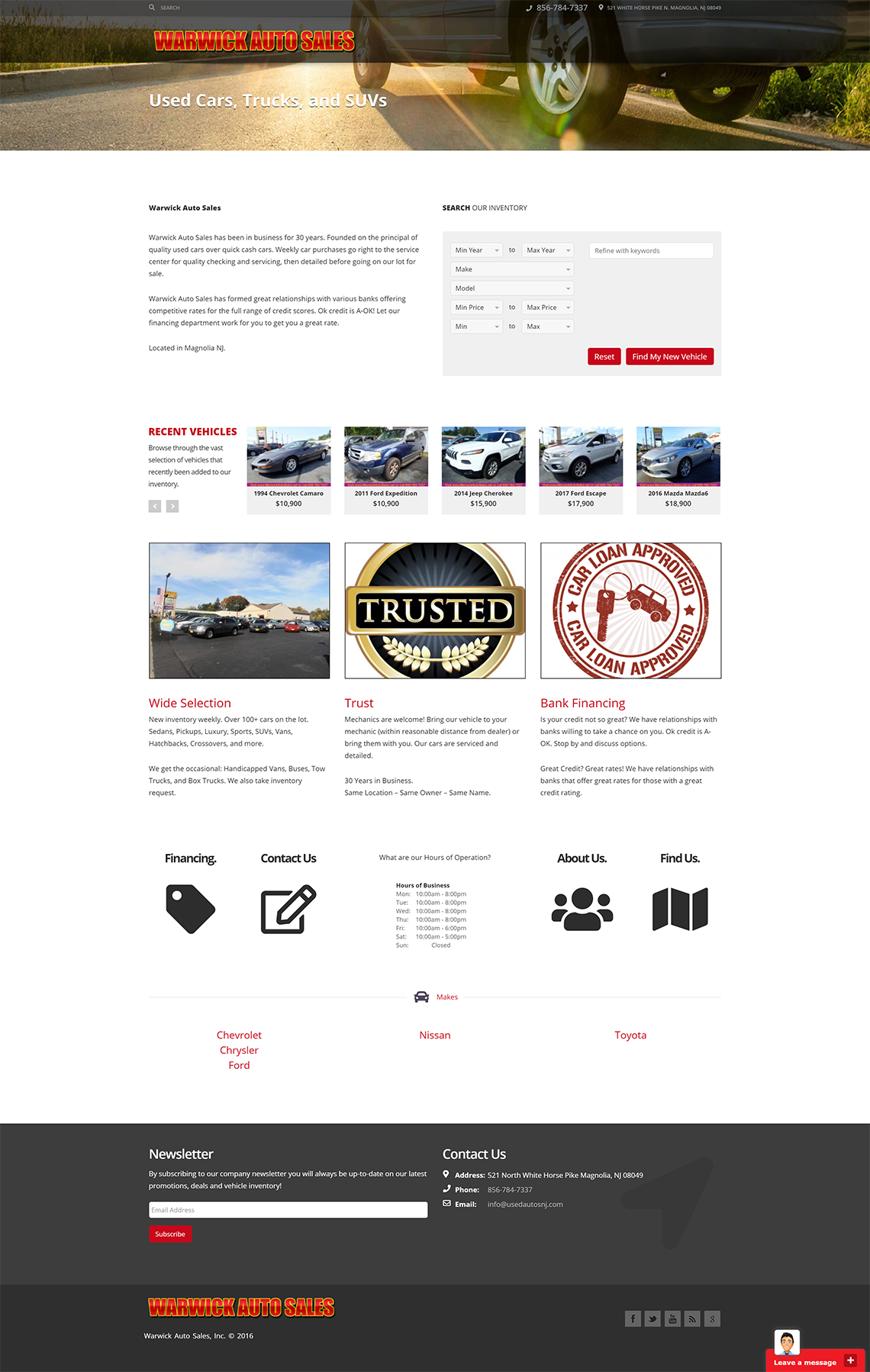 Used Autos Website