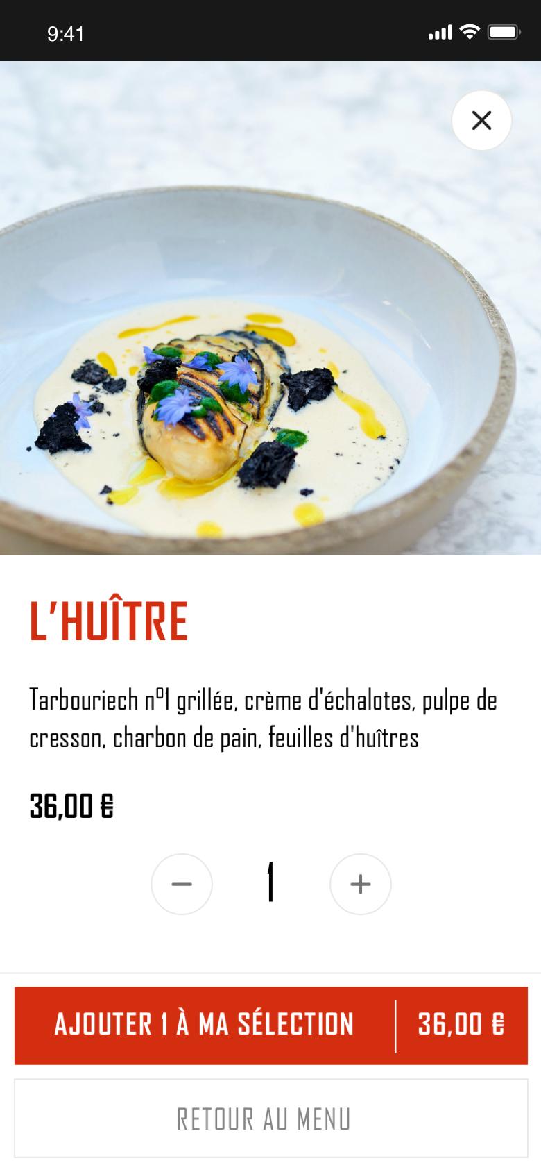Menu du restaurant Colette