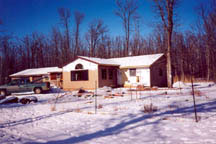 External photo of the home while in construction.