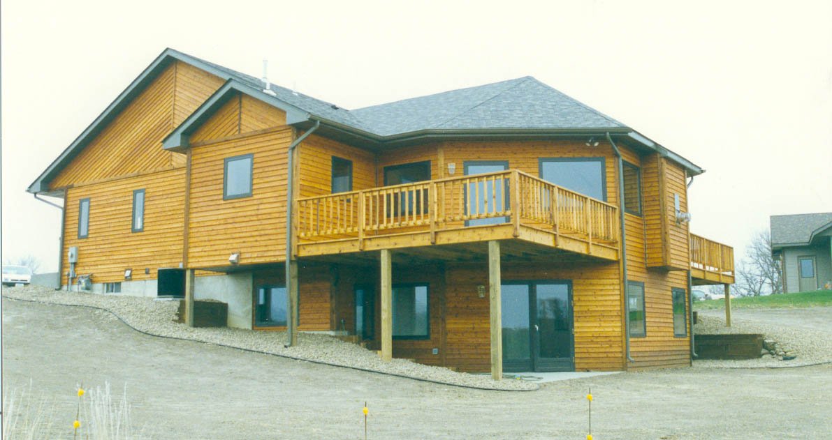 The exterior of Steve's home once construction was completed.