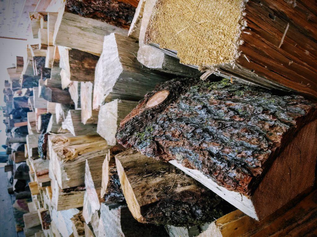 Truckee wood pile