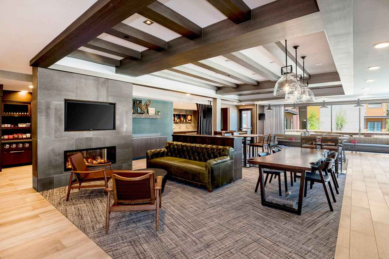 SpringHill Suites by Marriott in Truckee lobby.