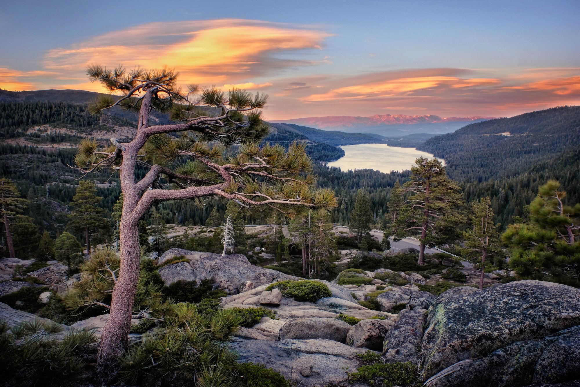 Sustainable Truckee, scenic view of Donner Lake.
