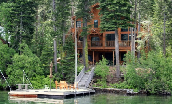 Book a Donner Lake Realty mountain home on the shores of Donner Lake.