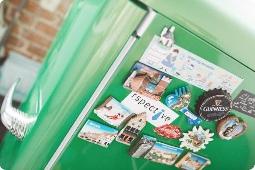 Photo of Voucherify kitchen fridge