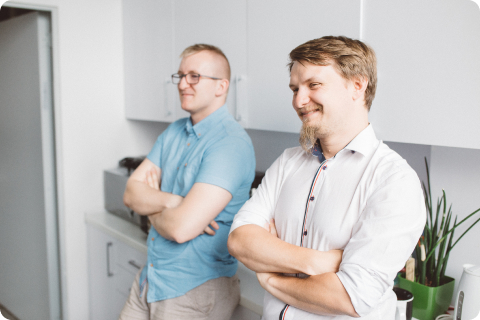 Photo of Voucherify team members talking