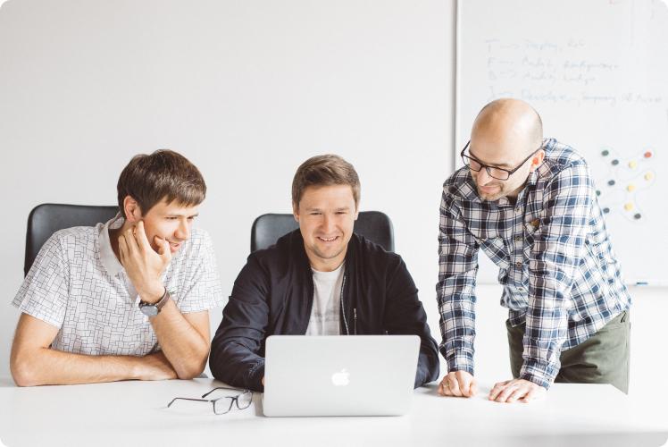 Photo of Voucherify founders talking