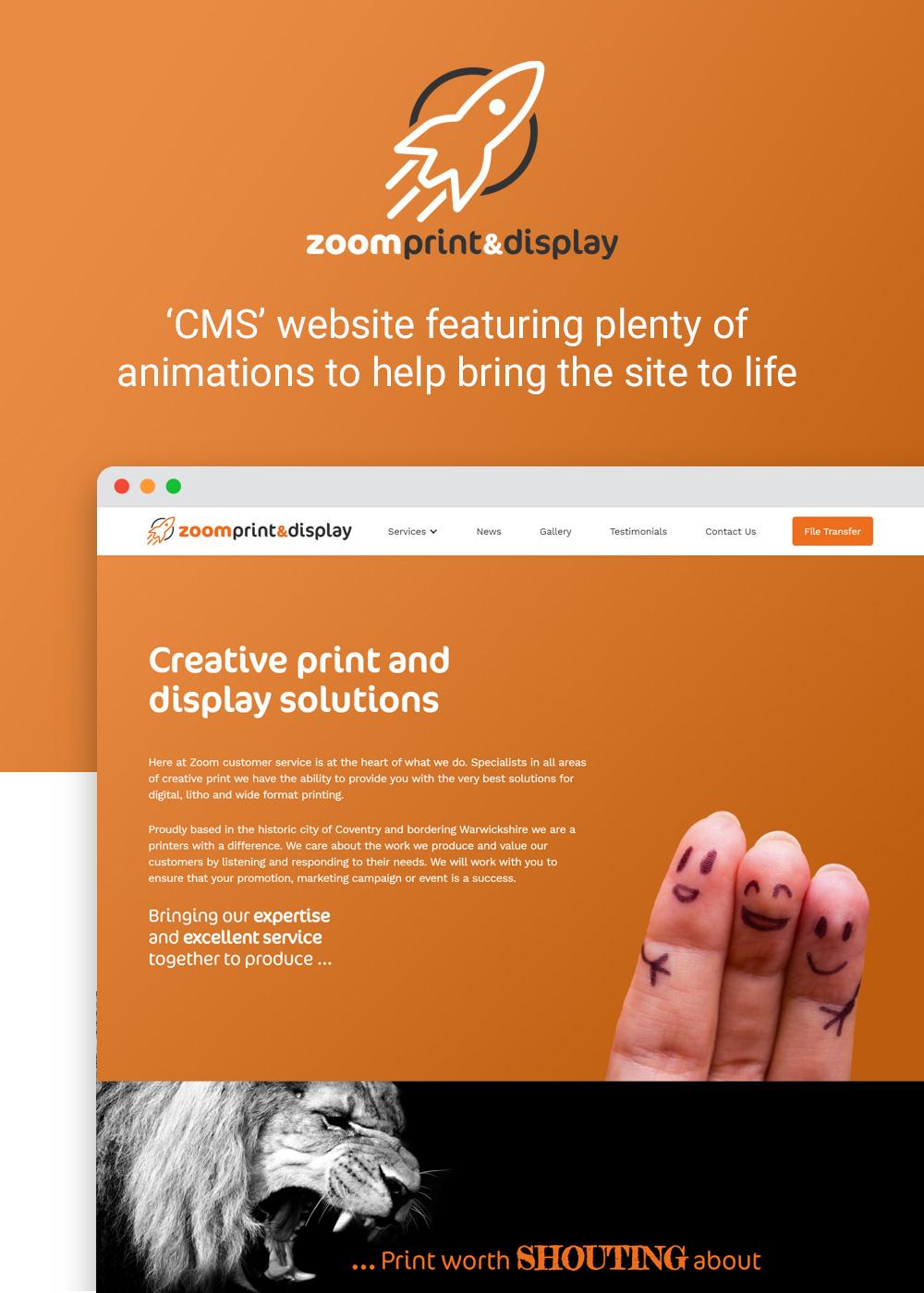 Website designed by Rugby Web Design Limited - Zoom Print