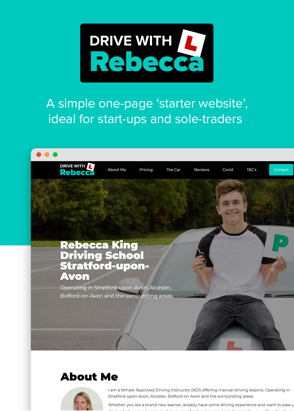 Website designed by Rugby Web Design Limited - Drive with Rebecca