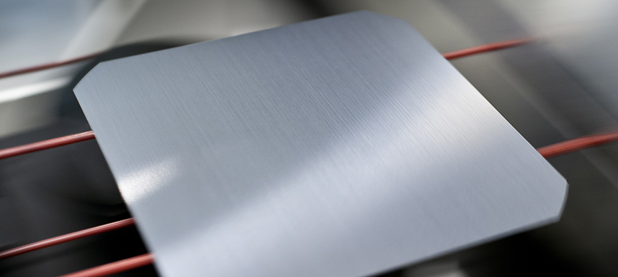 Picture of metal wafers